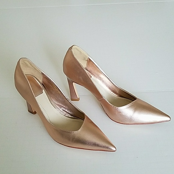34d59b770b Christian Dior Shoes - Christian Dior Songe Rose Metalic Leather Heels